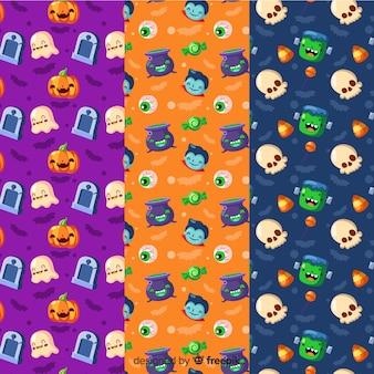 Colección de coloridos patrones de halloween