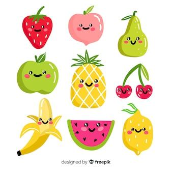 Colección comida adorable dibujada a mano