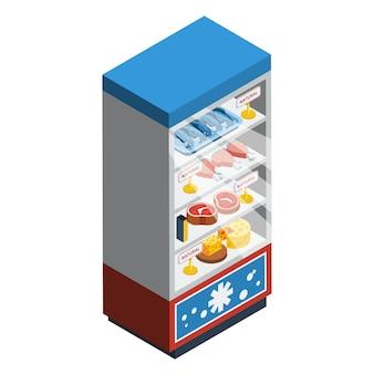 Colección de comida isométrica