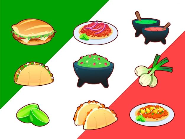 Colección de comida mexicana