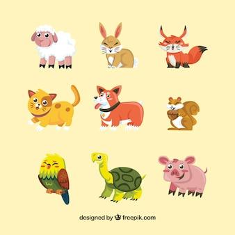 Colección completa de animales sonrientes
