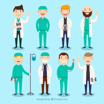 Colección completa con variedad de doctores