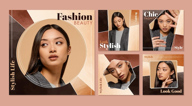 Colección de concepto de belleza de moda