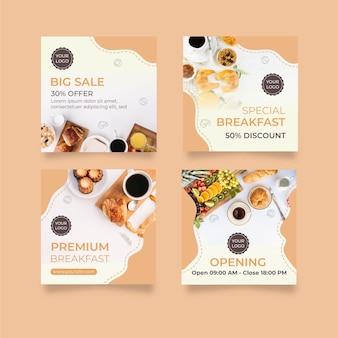 Colección de concepto de desayuno