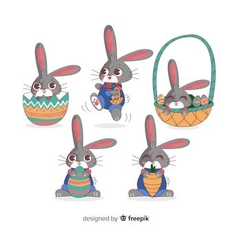 Colección de conejos de pascua