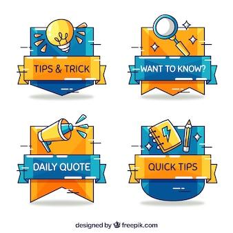 Colección de consejos rápidos en estilo dibujo a mano