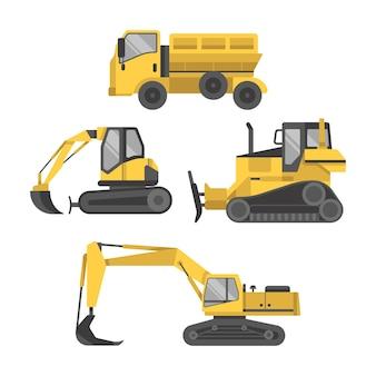 Colección de construcción de excavadoras