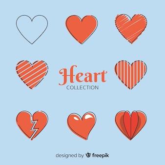 Colección corazones simples
