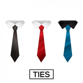 Colección de corbatas de colores