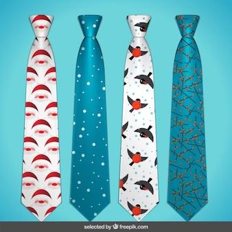 Colección de corbatas estampadas