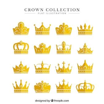 Colección de coronas impresionantes