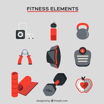 Colección de cosas para fitness