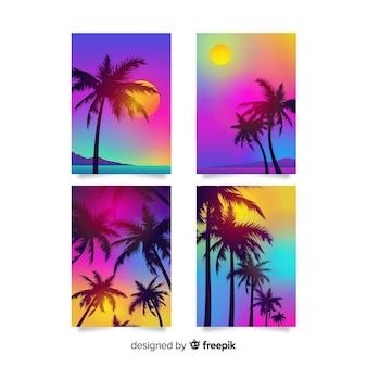 Colección covers degradadas de playa