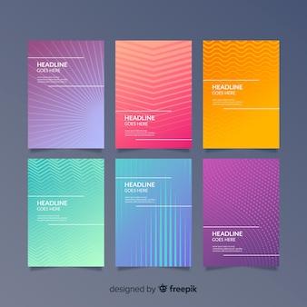 Colección covers líneas geométricas coloridas