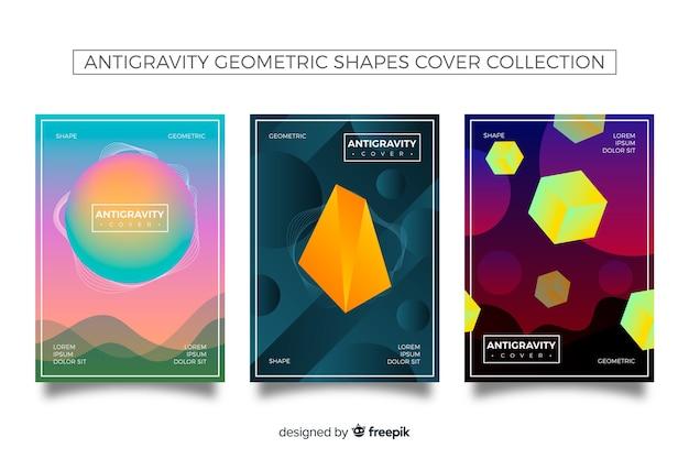 Colección covers patrón formas degradadas antigravedad