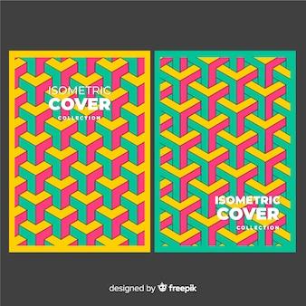 Colección de covers de patrones isométricos