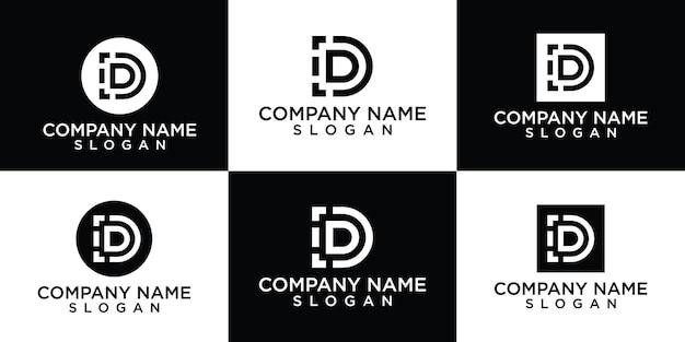 Colección creativa de diseño de logotipo letra d