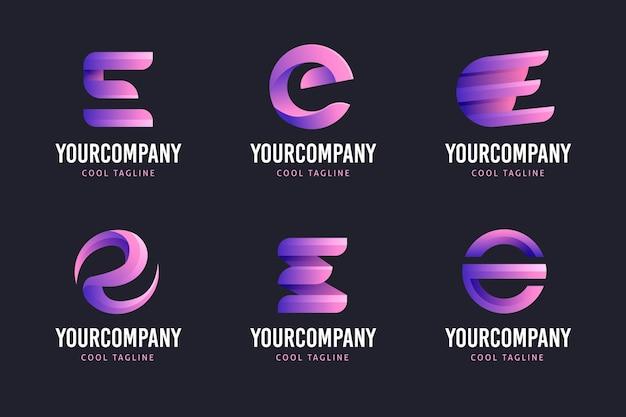 Colección creativa de logos degradados e
