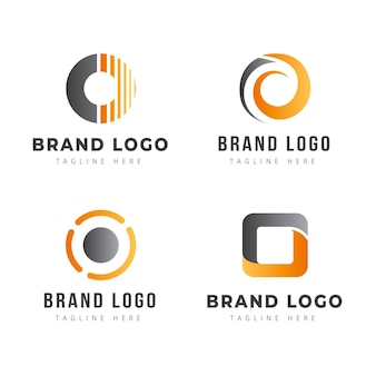 Colección creativa de logos degradados o