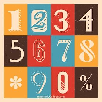 Colección creativa de números