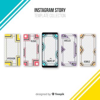 Colección creativa de plantillas de stories de instagram