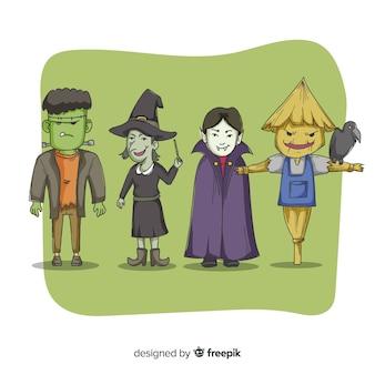 Colección de criaturas espeluznantes de halloween