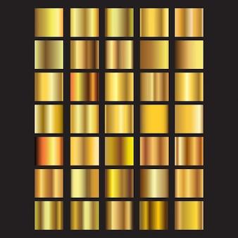 Colección de cuadrados dorados