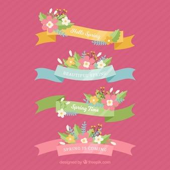 Colección de cuatro cintas de primavera