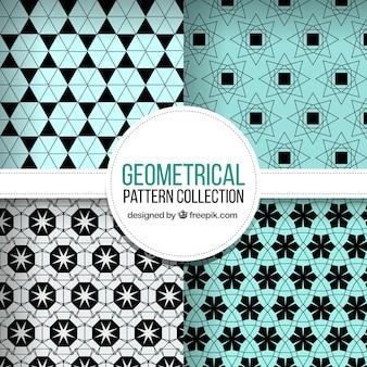 Colección de cuatro patrones geométricos