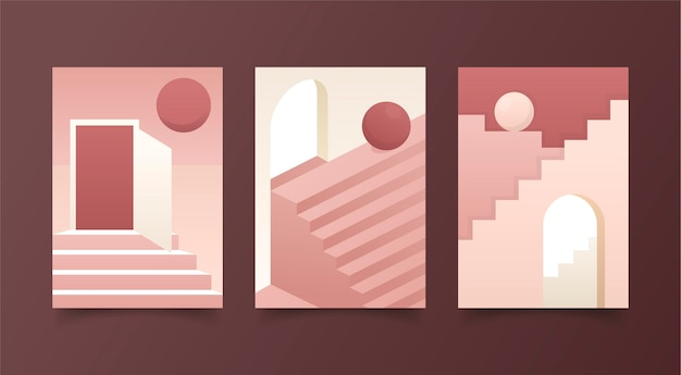 Colección de cubiertas de arquitectura mínima