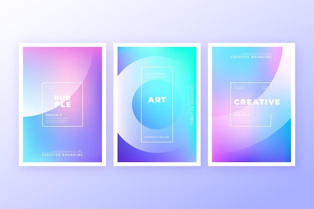 Colección de cubiertas coloridas abstractas