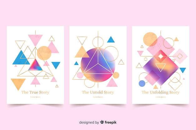 Colección de cubiertas de diseño geométrico.