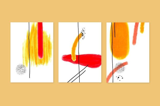 Colección de cubiertas de formas abstractas de acuarela