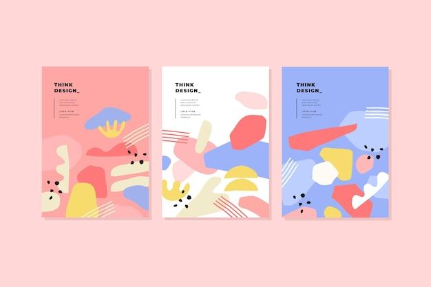 Colección de cubiertas de formas abstractas