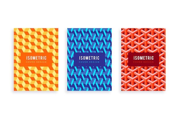 Colección de cubiertas isométricas.