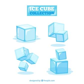 Colección de cubitos de hielo en 2d