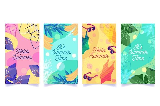 Colección de cuentos de instagram de verano