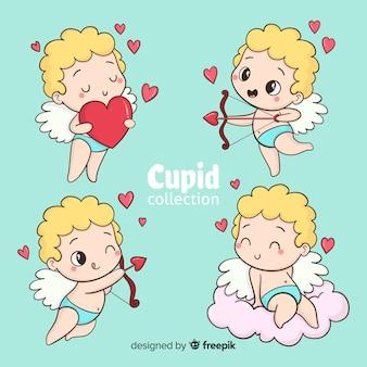 Colección cupido dibujos animados san valentín