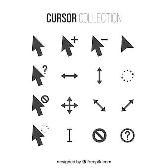 Colección de cursors negros