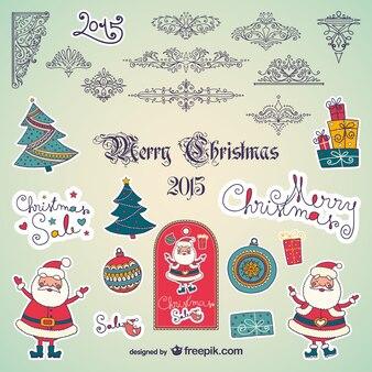 Colección de adornos de navidad