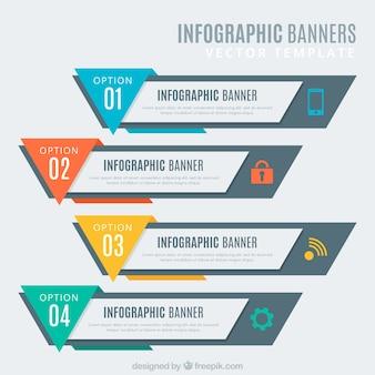 Colección de banners de infográficos