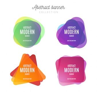 Colección de banners modernos abstractos