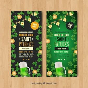 Colección de banners web del día de san patricio