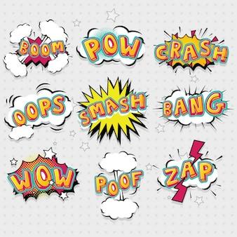 Colección de bocadillos de diálogo dibujados a mano
