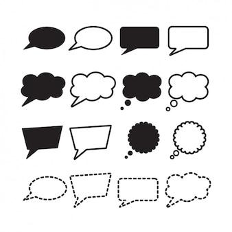 Colección de bocadillos de diálogo