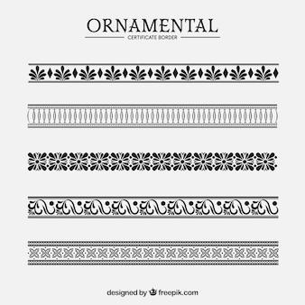 Colección de bordes ornamentales de certificado