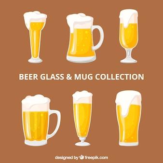 Colección de botellas de cerveza planas