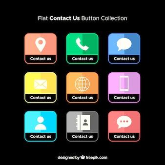 Colección de botones de contacto
