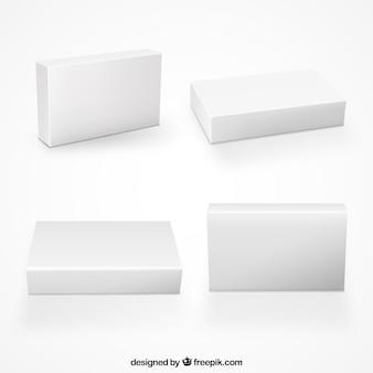 Colección de cajas en blanco