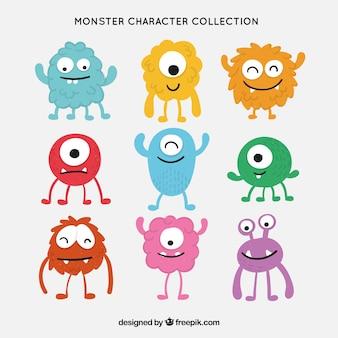 Colección de caracteres de monstruosl